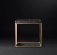 Nicholas Oak Square Side Table