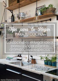 """TIPS PARA TU HOGAR """" Para tu cocina""""  La cocina es el lugar ideal para colocar plantas aromáticas o especias, así podrás tener provisiones fresca y una forma natural de decorar tu interior http://reparacionlavadoras.info/ - Home Washer - #repacióndelavadoras #lavadora #hogar #nevera"""