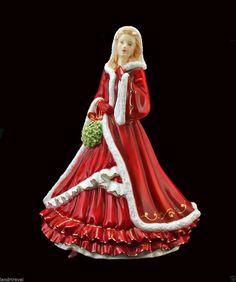 Pretty Ladies Royal Doulton Christmas Day 2011 Figurine Xmas Wish Christmas China, Christmas Images, Christmas Time, Xmas Wishes, Little Ballerina, China Dolls, Christmas Figurines, Royal Doulton, Royal Albert