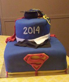 Superman Graduation Cake