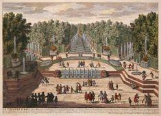 Le Theatre d'Eau. Vues des Belles Maisons de France. Gabreil Perelle, Nicholas, Adam Perelle.