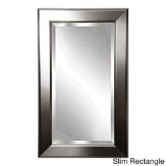 American Made Rayne Silver Sleek Beveled Wall Mirror   Overstock.com Shopping - Great Deals on Mirrors