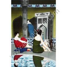 120x180 Hamam Sohbeti  gülser Painting, Weapon, Painting Art, Paintings, Painted Canvas, Drawings