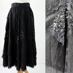 Hey, I found this really awesome Etsy listing at https://www.etsy.com/listing/205192892/1980s-vintage-gothic-black-lace-and