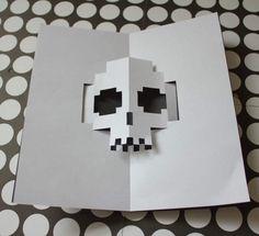 Un pequeño tutorial para aprender hacer tarjetas de halloween pop-up son de esas tarjetas que cuando las abres, una figura de papel aparece.
