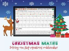 Christmas maths: Solving one step equations codebreaker