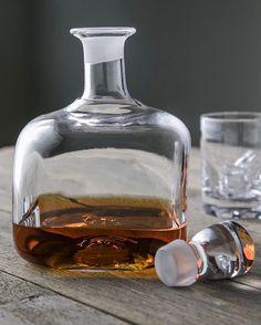Handcrafted glass barware