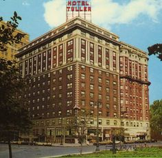 "Abandoned Tuller Hotel,Detroit,Michigan (A number of renovation hotel were floated. included a plan to turn the Tuller into the Golden Harp Castle, a 250 room hotel, 250 apartment complex with a 14 story atrium and Jazz Age theme. Nothing ever came The Tuller was finally pulled down by the City in 1992 as it was considered ""beyond saving""The lot is a currently an unpaved parking lot.)"