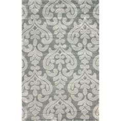 nuLOOM Handmade Modern Damask Grey Rug (7'6 x 9'6) | Overstock.com Shopping - Great Deals on Nuloom 7x9 - 10x14 Rugs, 301.49