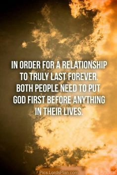 Not even close....They need to put each other first. God doesn't factor into everything for some people.