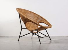 Rattan easy chair design Dirk van Sliedregt for Gebr. Jonkers (Noordwolde) - SOLD at studio1900.nl