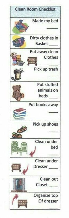 chore checklist for kids