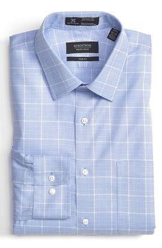 Nordstrom Smartcare™ Trim Fit Plaid Dress Shirt