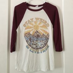 Obey T Shirt Maroon Obey Baseball T Shirt. Obey Tops Tees - Short Sleeve