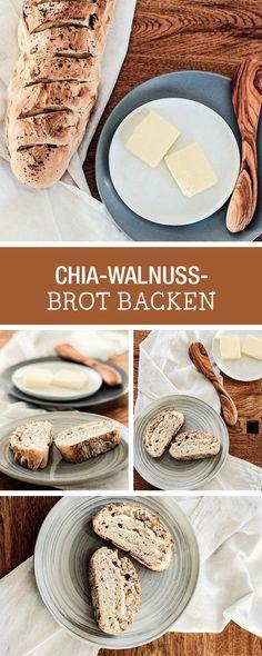 Herzhaftes Rezept für ein gesundes Brot mit Chiasamen und Walnüssen / recipe for a homemade bread with walnuts and chia seeds via DaWanda.com