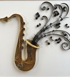 The Saxophone, Quilling, Paper art