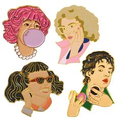 @isabellegeneva Pink Ladies pin set, Wildtiger Pins. Hey, I found this really awesome Etsy listing at https://www.etsy.com/listing/279068750/pink-ladies-enamel-pin-set