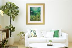 Field of Dreams offers a contemporary feel to this living space. Prints and canvas wraps available at www.eliseokrend.com