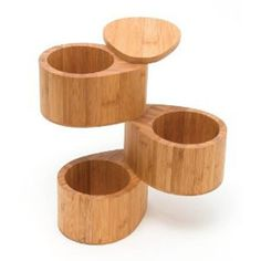 3 Tier Bamboo Salt And Spice Box With Swivel Cover by Lipper International