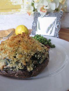 Let Them Eat Healthy : Salmon Stuffed Mushrooms