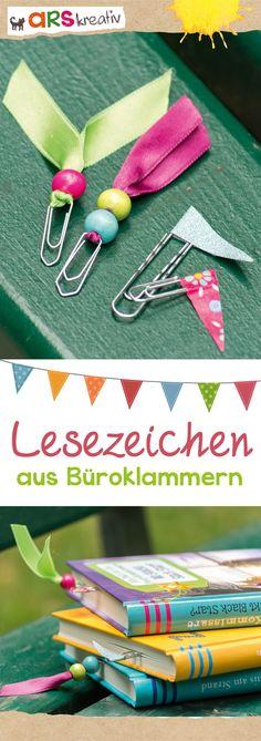 Lesezeichen ganz einfach aus Büroklammern basteln *** DIY Paperclip Bookmarks - Easy Teenie Craft