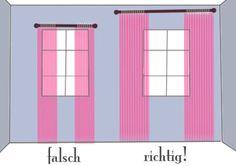 Gardinen richtig hängen
