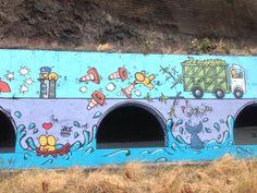 107g. Fresque du tunnel de la route du littoral by Jace