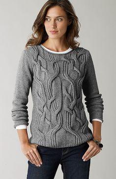 Hand Knit Women's crewneck sweater made to order hand knitted women's sweater cardigan pullover women's clothing handmade turtleneck v-neck Sweater Knitting Patterns, Knitting Designs, Hand Knitting, Knitting Ideas, Knitting Projects, Cardigan Sweaters For Women, Cable Knit Sweaters, Pullover Sweaters, Crewneck Sweater