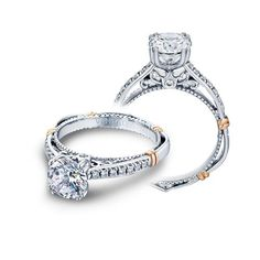 Shop online VERRAGIO D101M Vintage White Gold Diamond Engagement Ring at Arthur's Jewelers. Free Shipping