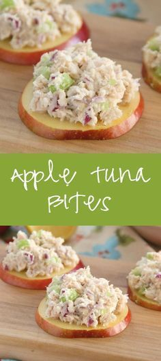 Apple Tuna Bites use greek yogurt in place of mayo and are the perfect crunchy bite for a quick meal or an after school snack!