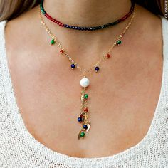 Pearl Jewelry, Boho Jewelry, Beaded Jewelry, Jewelery, Handmade Jewelry, Jewelry Necklaces, Beaded Necklace, Gold Necklace, How To Make Necklaces