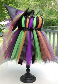 Witch Tutu Halloween costume. @Danielle Moscoso I like this!! Very easy to make!