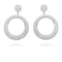 Dintel Earrings Silver. White Zircon #LuxenterJoyas  #LuxenterTimeToShine
