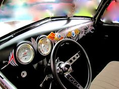 Oh. My. Word. I NEED this dash. I could look at it all day.  Oh, and that flying eyeball shifter knob. I need that too.