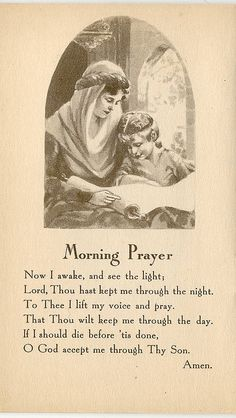 Bible Helps for Little Children, Copyright 1934 Prayer Verses, Bible Prayers, Faith Prayer, Catholic Prayers, Prayer Book, Prayer Cards, My Prayer, Morning Prayer Catholic, Beautiful Prayers