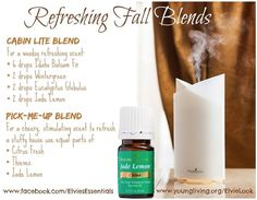 Refreshing Fall Blends with Jade Lemon Battle back against musty air by diffusing your favorite essential oils! Diffusing is an excellent way to humidify dry air and brighten the atmosphere in a home or office. Here are some invigorating blend ideas that I have discovered to help freshen indoor air this beautiful season using the new Jade Lemon essential oil!