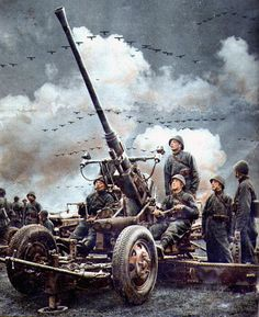 1939 Polish-made Bofors 40 mm gun. The Bofors 40 mm AA gun was designed by the Swedish company Bofors. It was one of the most popular medium-weight anti-aircraft systems during World War II, the cannons manufactured in Poland were also used by the British air defense in the Battle of Britain.