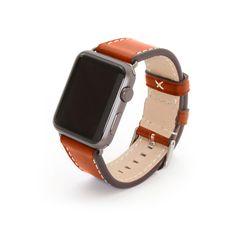 Aufwendig produziertes Manufaktur-Armband von BandWerk, exklusiv für die Apple Watch   Hellbraun