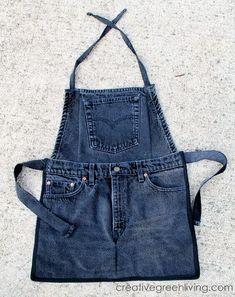 riciclare jeans grembiule