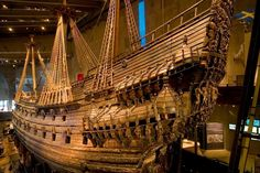 Vasa is a Swedish warship built between 1626 and 1628. The preserved Vasa is in the main hall of Vasa Museum.