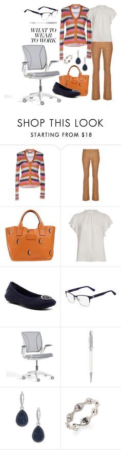 """""""office wear"""" by brandieporter ❤ liked on Polyvore featuring Covert, Dondup, Nur Donatella Lucchi, River Island, Bandolino, Calvin Klein, Pottery Barn, Swarovski, Nine West and Casa Reale"""