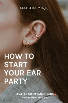 Love the look, but don't know where to start? We've got five rules for throwing the ultimate ear party. Double Cartilage Piercing, Tragus, Cuff Earrings, Cartilage Earrings, Minimal Classic Style, Ear Bar, Simple Bracelets, Rook, Jewelry Party