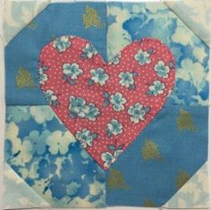 Splendid Sampler 2016 - Block 1 - Hearts Aflutter - Colour Way 1