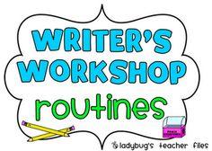 Writers Workshop Routines