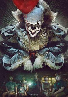 Clown Horror, Arte Horror, Horror Art, Le Clown, Creepy Clown, Clown Mask, Horror Movie Characters, Horror Movies, Es Stephen King