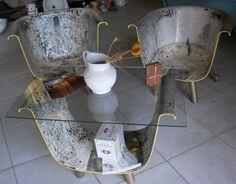 Butaca y mesa bañera