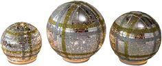 Mr Christmas 17800 Gold Sphere Christmas Decoration, Set Of 3