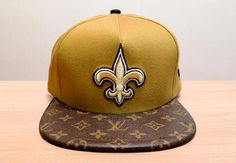 Louis Vuitton on New Orleans Saints  Authentic LV Speedy Top-Bill, Black Sheep Skin Underbrim. NE A Frame Snapback.    The Flyest Custom Caps Ever.  http://www.snaphigh.com/  Twitter @SnapHighDotCom  Instagram @SnapHighDotCom