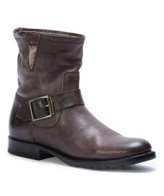 Take a look at this Charcoal Natalie Short Leather Engineer Boot today!