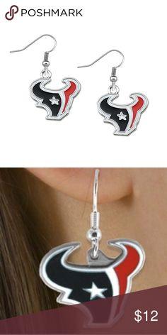 Houston Texans earrings Brand new Houston Texans fish hook earrings. NFL Jewelry Earrings
